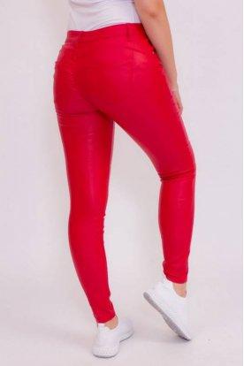 Piros push-up bőrnadrág
