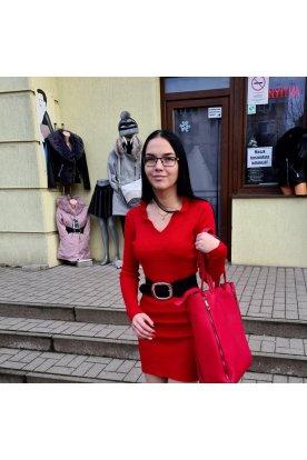 Női divatos gumis műbőr öv